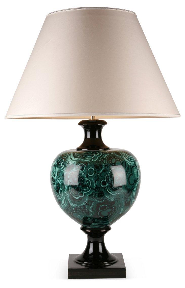 Malachite Finish Lamp