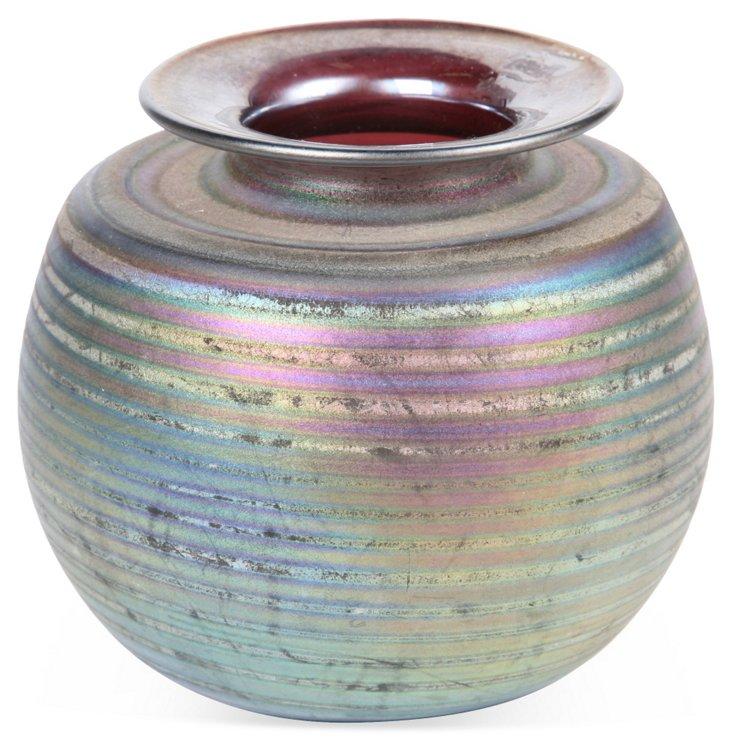 Iridescent Pottery Vase