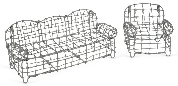 Petite Wire Sofa & Chair