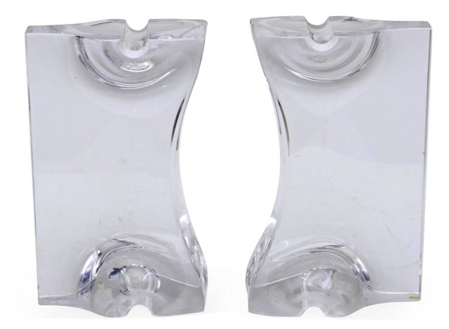 Lucite Bookends, Pair