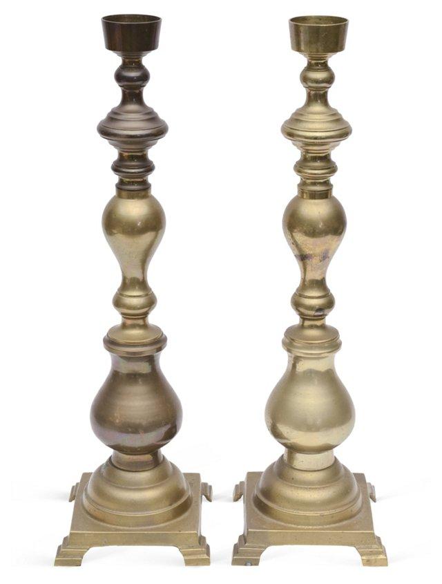 Monumental Altar Candleholders, Pair