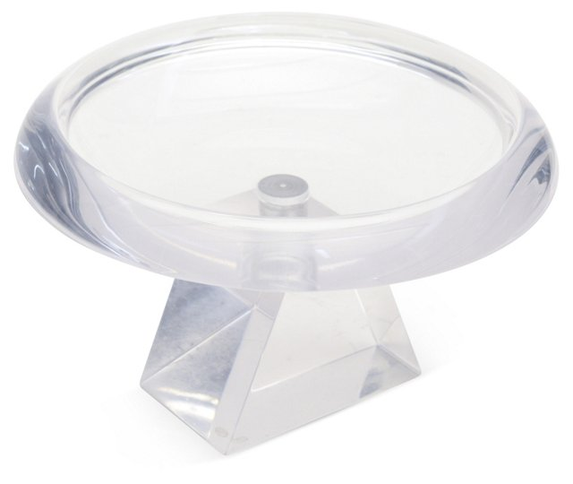 Lucite Candy Bowl on Stand