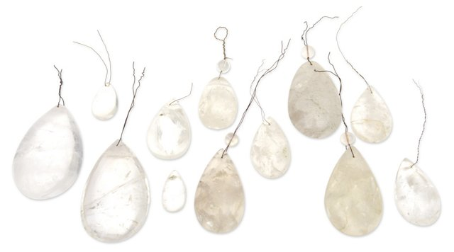 Raw Crystal Chandelier Drops, S/12