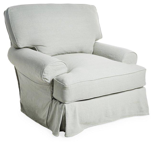 Comfy Chair, Silver Sage Linen