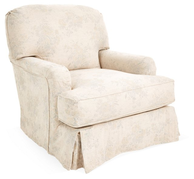 Dover Slipcovered Club Chair, Multi