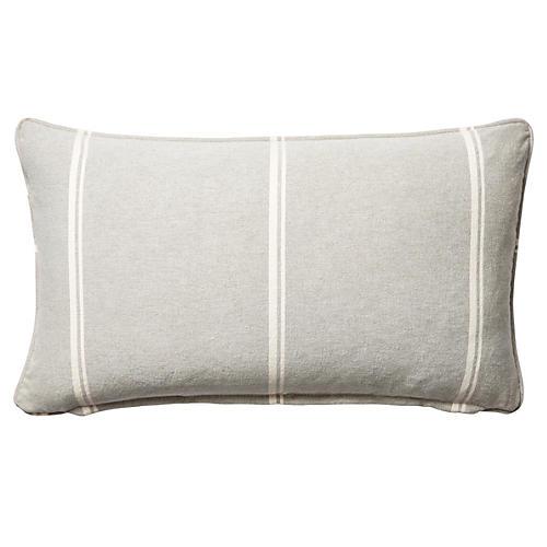 Jordan 12x20 Cotton Pillow, Gray