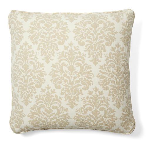 Capistrano 18x18 Cotton Pillow, Tan