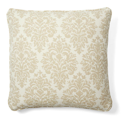 Capistrano 18x18 Cotton Pillow, Tan