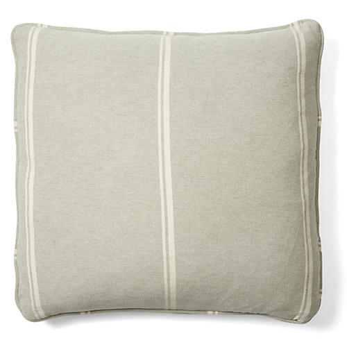 Jordan 18x18 Cotton Pillow, Gray