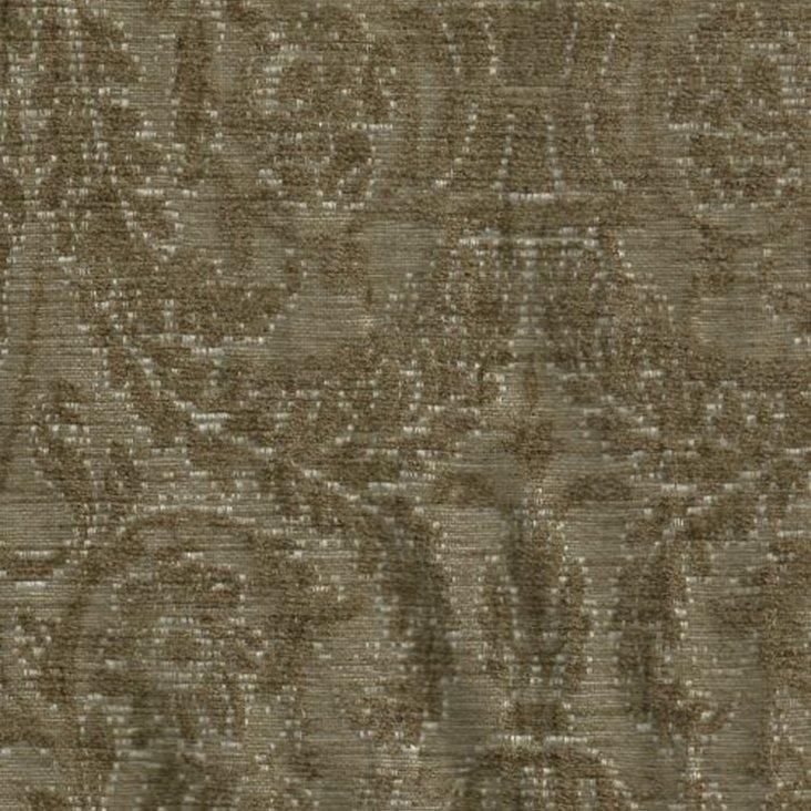 Damask Print Fabric, Raisin