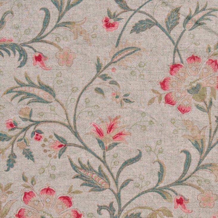 Floral Linen-Blend Fabric, Multi