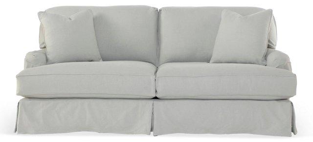 "Dover 83"" Slipcovered Sofa, Slate"