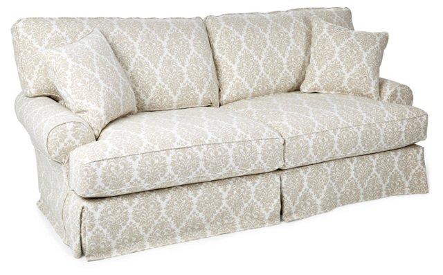 """Comfy 90"""" Slipcovered Sofa, Natural"""
