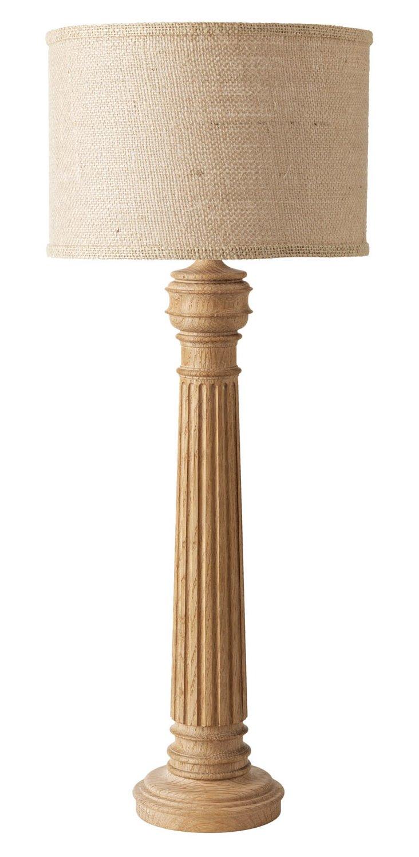 Half-Hitching Post Lamp, Limed Oak