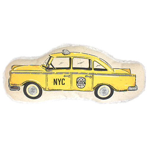 Taxicab Dog Toy, Yellow