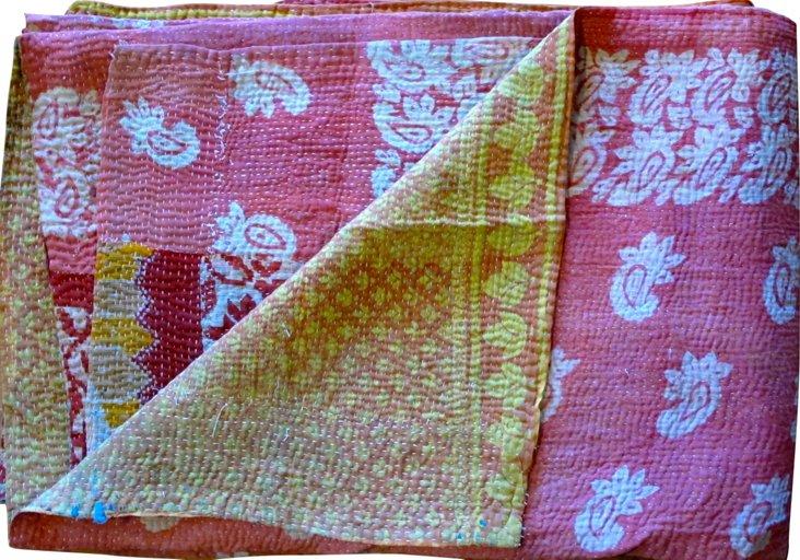 Vintage Kantha, Pink Power