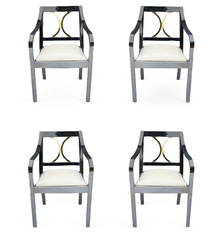 Chrome Modernist Chairs, Set of 4