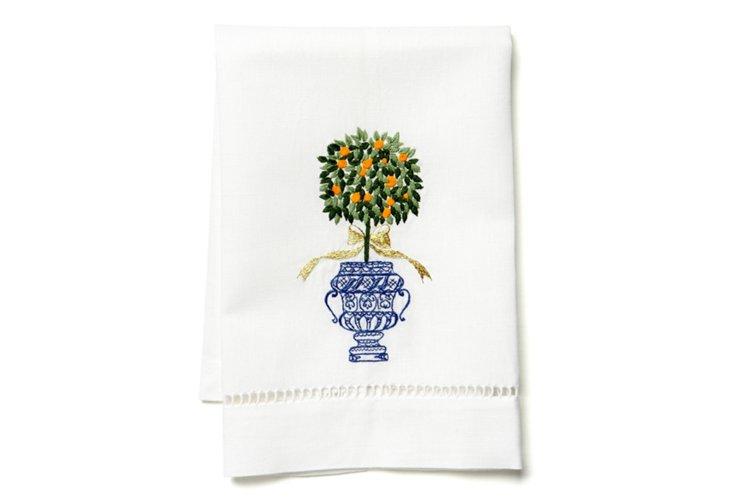 Topiary Tip Towel, Orange