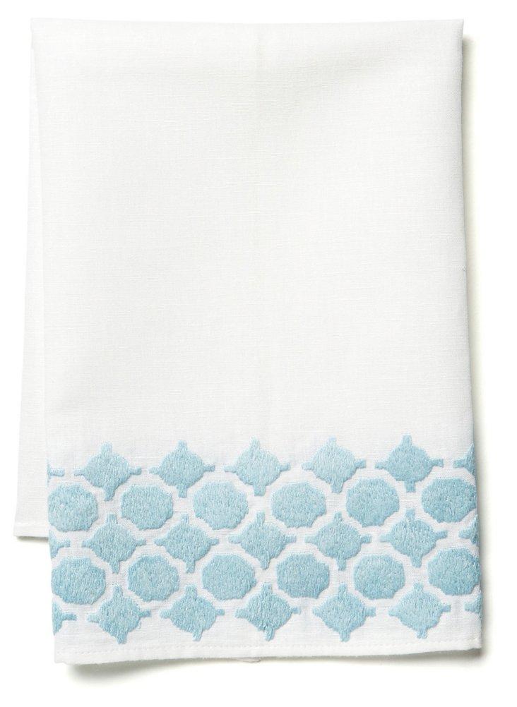 Geo Tip Towel, Lt. Blue