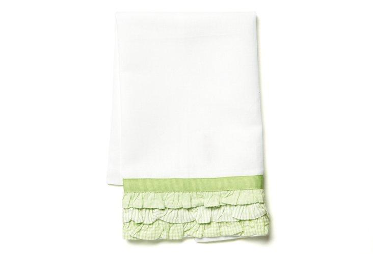 Calypos Tip Towel, Green/White