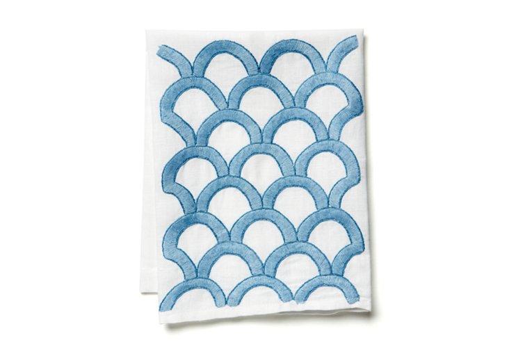 Leslie Tip Towel, China Blue