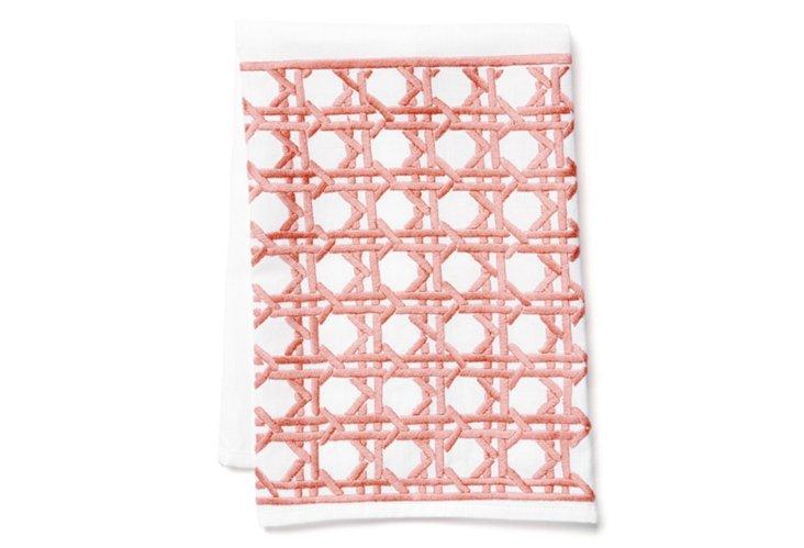 Cane Tip Towel, Salmon