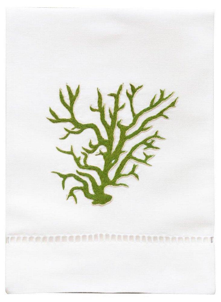 Seaweed Tip Towel, Green