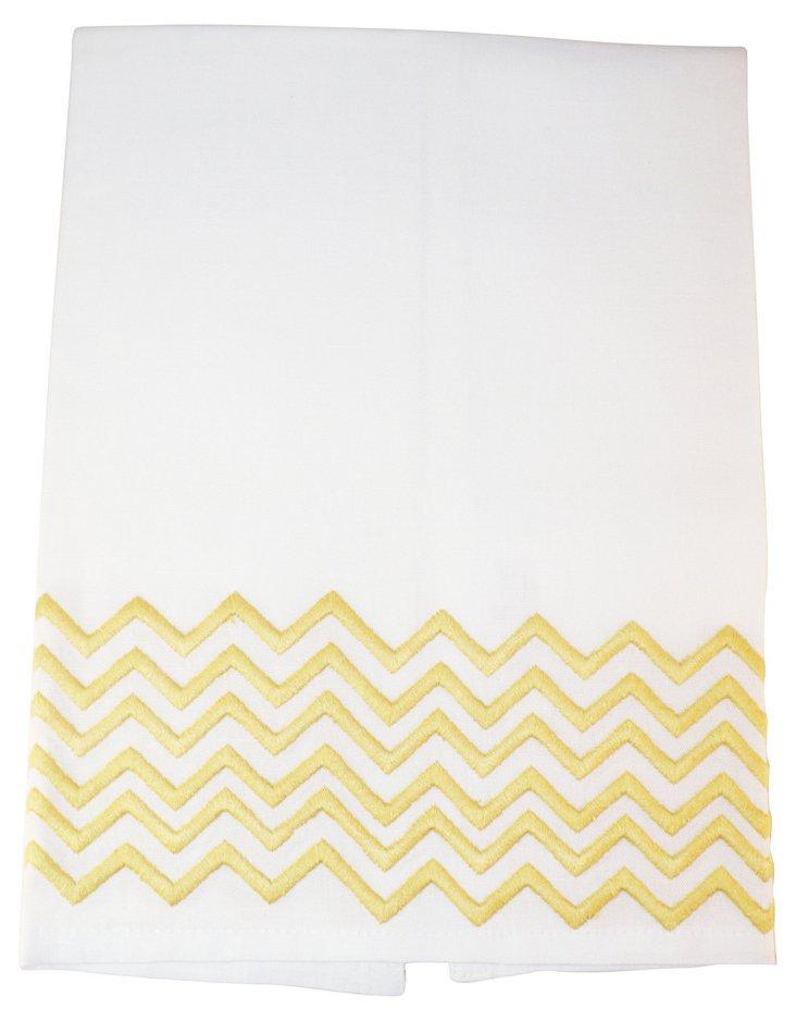 Zig Zag Tip Towel, Yellow