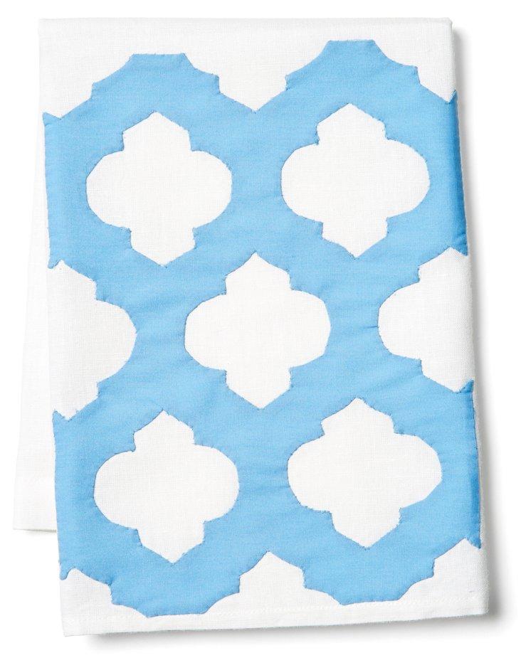 Sasha Tip Towel, Blue