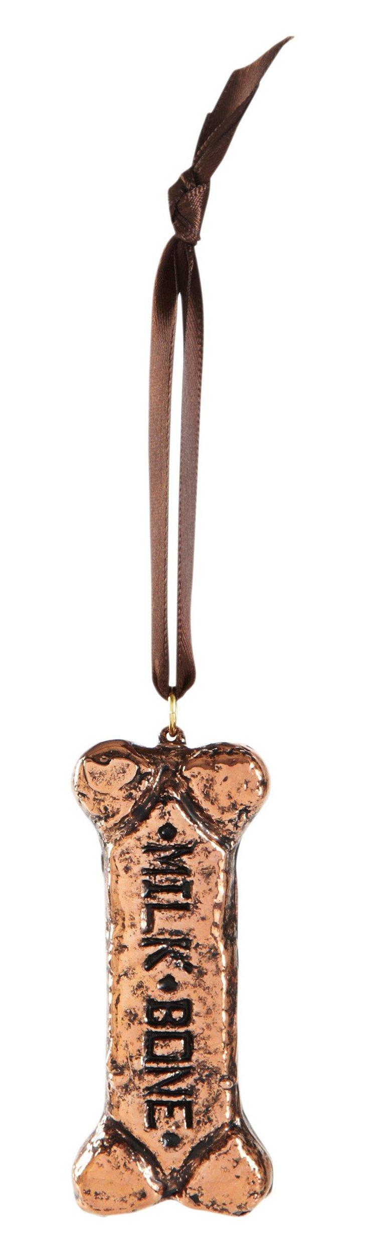 "3"" Dog Biscuit Ornament, Copper"