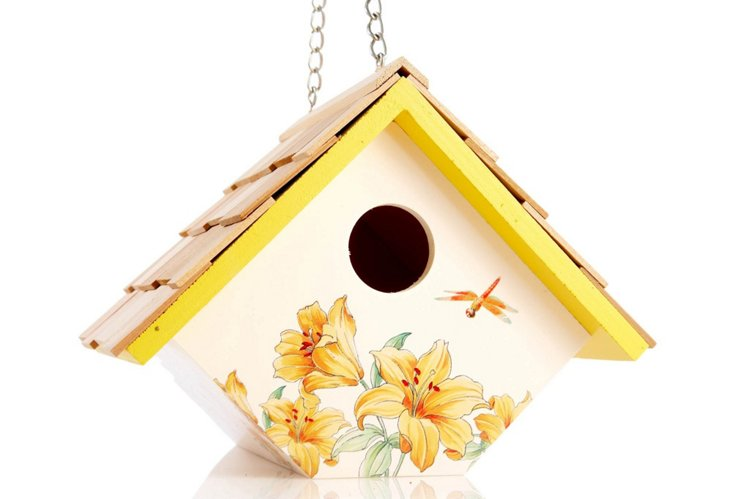 "8"" Wren Hanging Birdhouse, Lily"