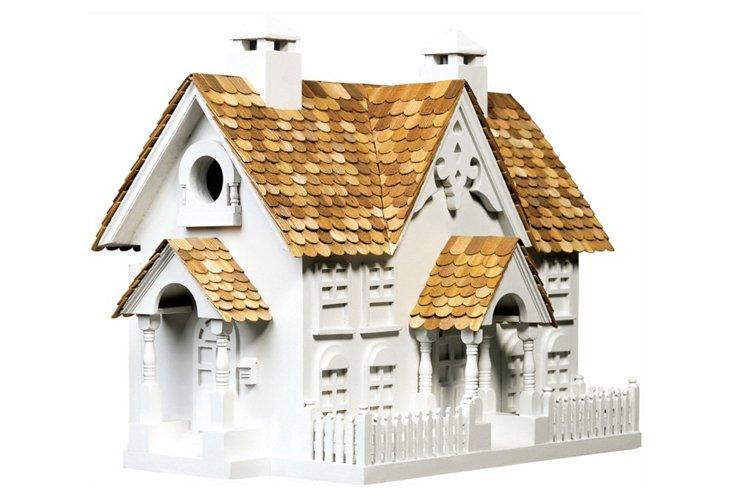 """16"""" Wrension Birdhouse, White"""