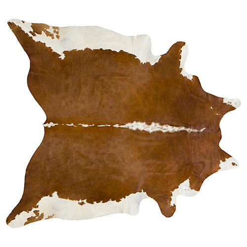 Natural Hide, Brown/White