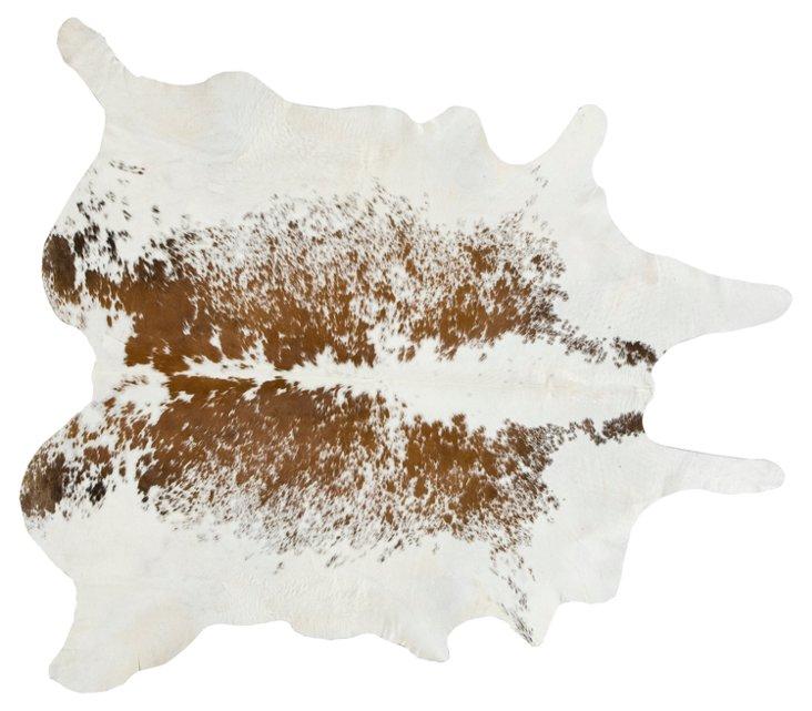 XL Natural Hide, Brown/White