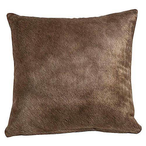 Full-Panel Hide Pillow, Sand