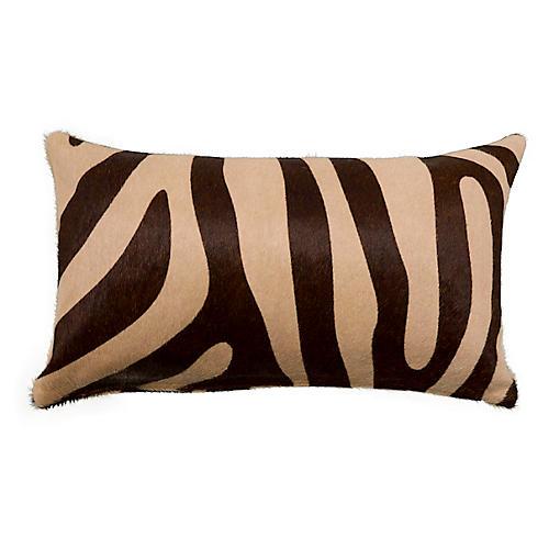 Zebra 13x22 Pillow, Brown/Beige