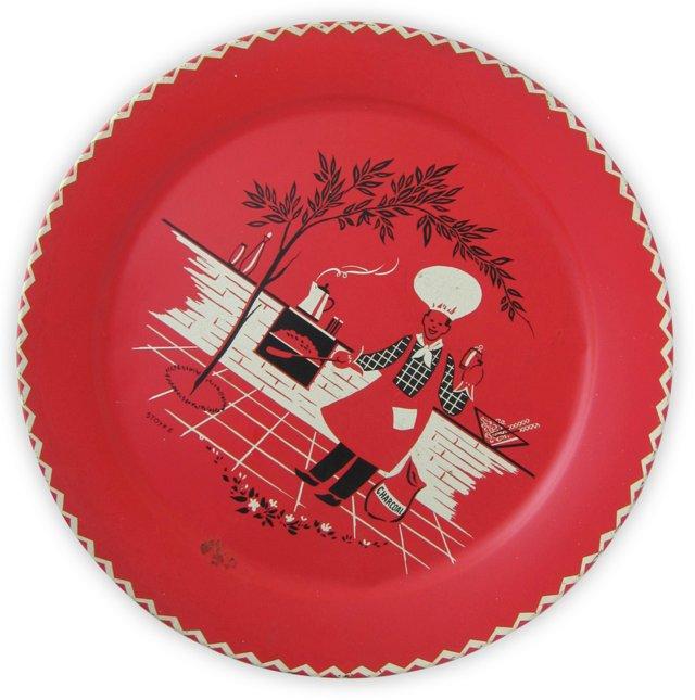 Red BBQ Platter