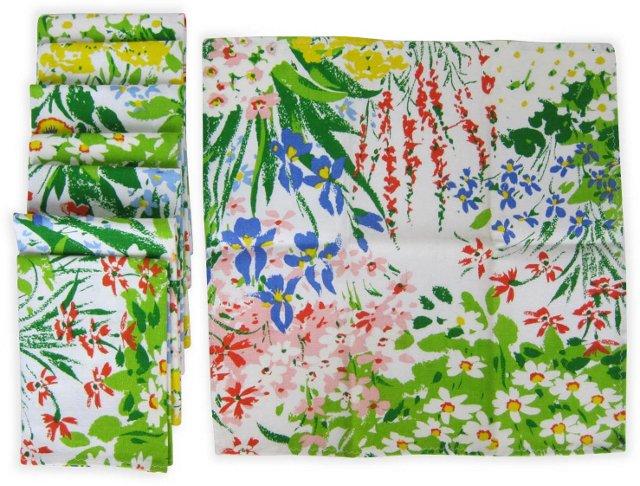 Floral Dinner Napkins, Set of 8