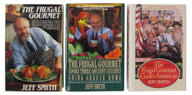 Frugal Gourmet Cookbooks, Set of 3