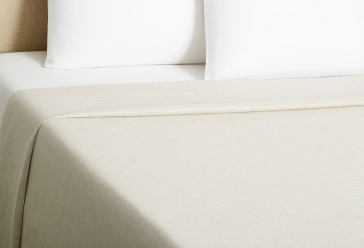 Paola Italian Linen Flat Sheet, Flax