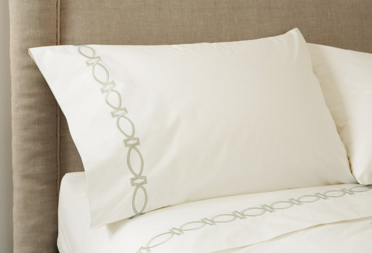 Maxwell Sheet Set, Ivory/Ivory