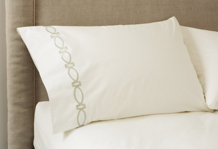 S/2 Maxwell Pillowcases, Ivory/Ivory