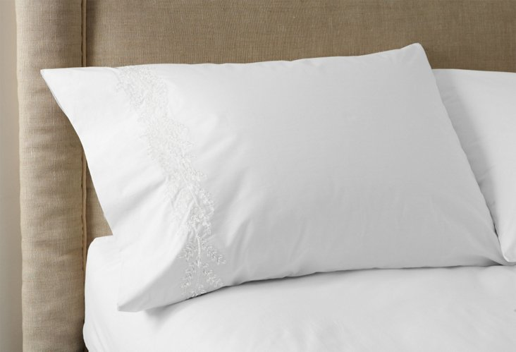 Set of 2 Willow Pillowcases, White