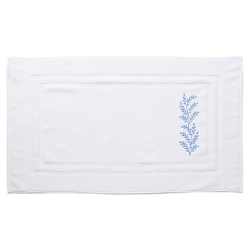 Willow Bath Mat, Blue