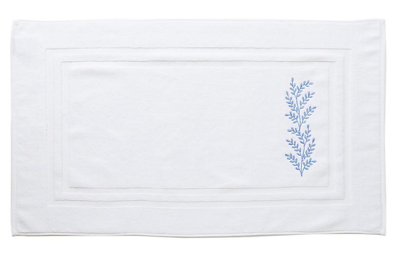 Willow Bath Mat, Blue
