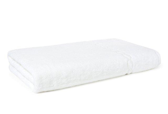 Chain Bath Sheet, White