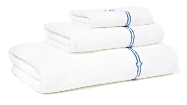 3-Pc Square Knot Towel Set, Blue