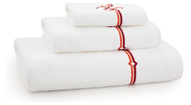 3-Pc Square Knot Towel Set, Honeysuckle