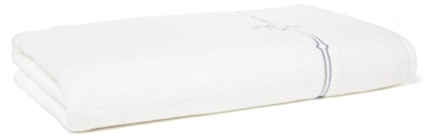 Square Knot Bath Sheet, Gray