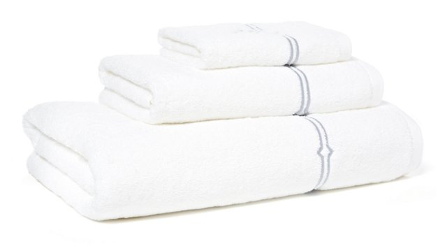 3-Pc Square Knot Towel Set, Gray